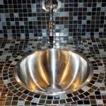 Plan vasque sur-mesure habillé en mosaïque Nantes