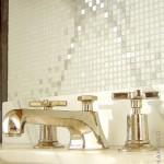 Crédence micro mosaïque salle de bain Londres
