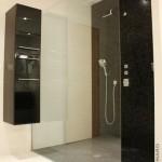 Douche à l'italienne mosaïque noire La Chapelle sur Erdre