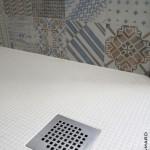 Douche à l'italienne mosaïque 1x1cm Azulej Mutina Sucé sur Erdre 44 (3)